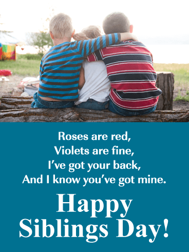 I've Got Your Back - Happy Siblings Day Card