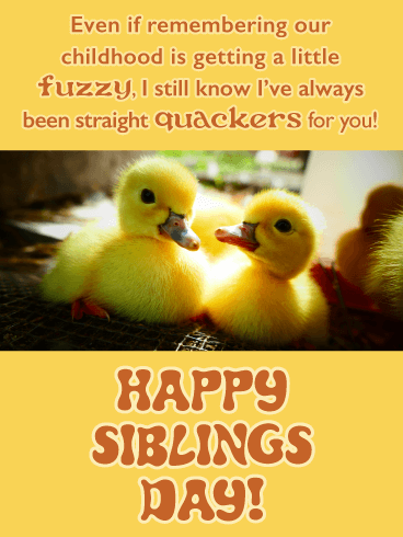 Quackers For You - Funny Happy Siblings Day Card