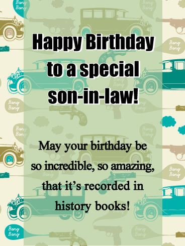 Awe Inspiring Birthday Card For Special Son In Law Personalised Birthday Cards Paralily Jamesorg