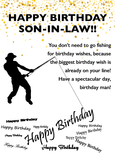 Special Fish - Happy Birthday Card for Son-in-Law