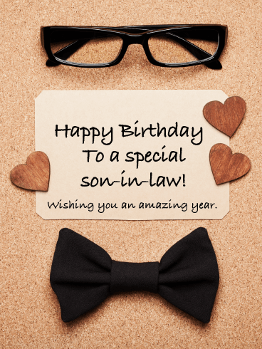 Smart Look - Happy Birthday Card for Son-in-Law