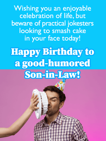 Good-Humored Guy- Happy Birthday Card for Son-In-Law