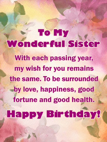 Extra Special Touch - Happy Birthday Card for Sister