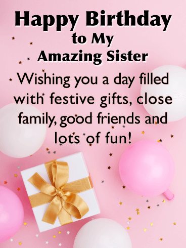 Incredible Birthday Wishes For Sister Birthday Wishes And Messages By Davia Personalised Birthday Cards Paralily Jamesorg