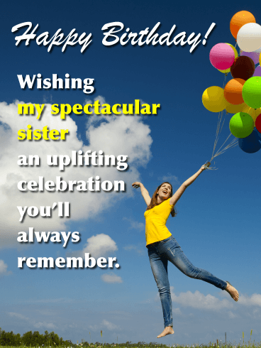 My Spectacular Sister - Happy Birthday Card for Sister