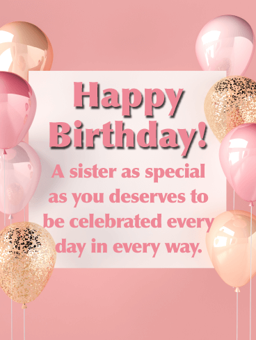 Elegant Touch - Happy Birthday Card for Sister