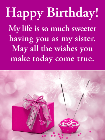 Wondrous Birthday Wishes For Sister Birthday Wishes And Messages By Davia Funny Birthday Cards Online Inifofree Goldxyz