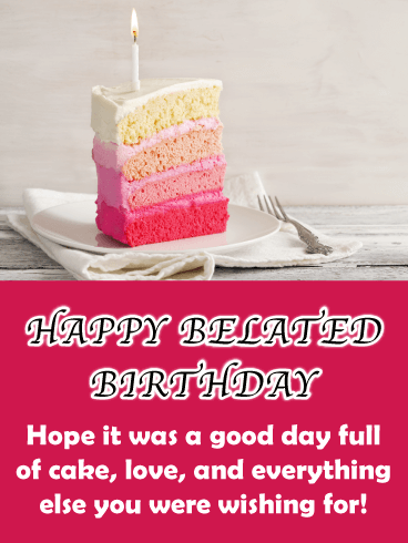 Belated Birthday Cake Cards