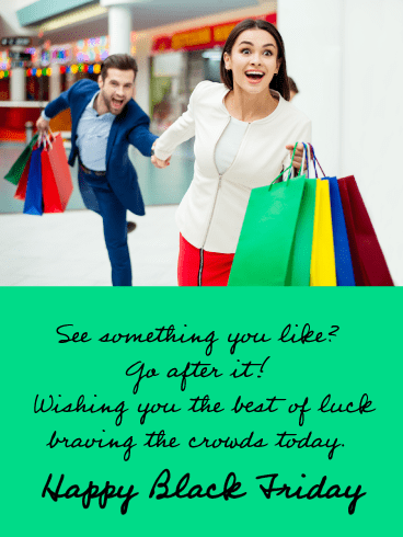 Go After It! - Happy Black Friday Card