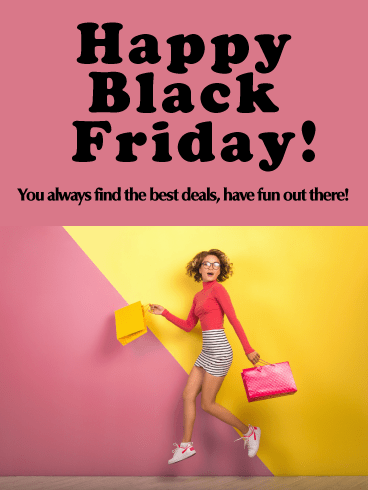 Fun Fashionista! - Happy Black Friday Card