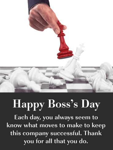 Smart Moves - Happy Boss's Day Card