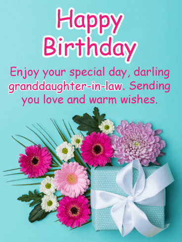 Floral Fun - Happy Birthday Card for Granddaughter-In-Law