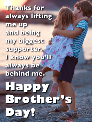 Forever Grateful to My Brother-Happy Brother's Day Card