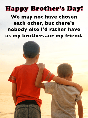 Nobody Can Take Your Place-Happy Brother's Day Card