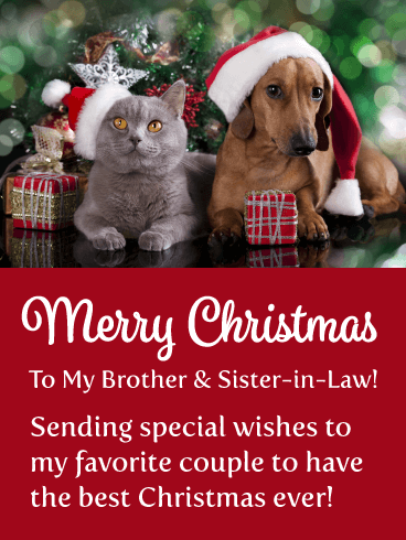 My Favorite Couple - Merry Christmas Card for Brother & Sister-in-Law