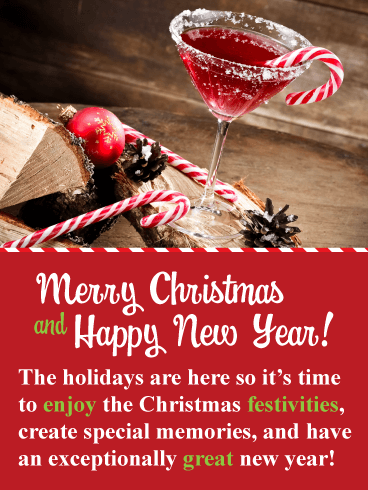 Enjoy the Festivities! - Merry Christmas and Happy New Year Card
