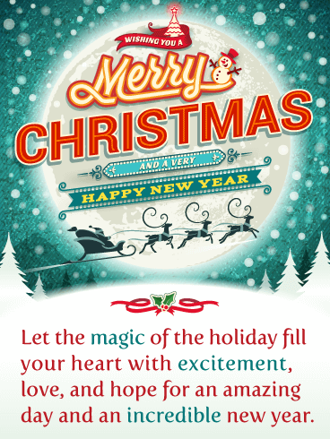 A Magical Holiday! - Merry Christmas and Happy New Year Card