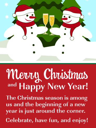 Time to Celebrate! - Merry Christmas and Happy New Year Card