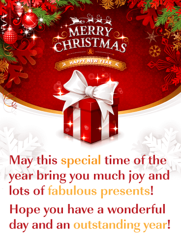 Fabulous Presents - Merry Christmas and Happy New Year Card