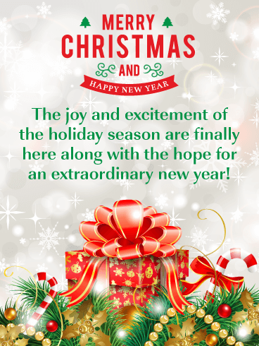Sensational Gift Box - Merry Christmas and Happy New Year Card