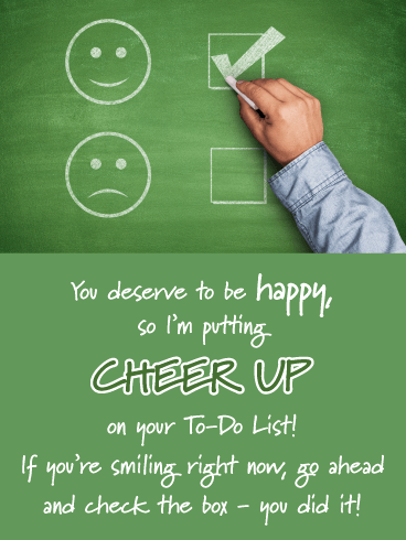 Chalkboard Smiley Faces- Cheer Up Card