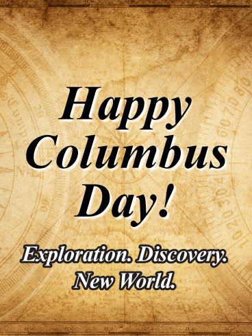 Exploration & Discovery - Columbus Day Card