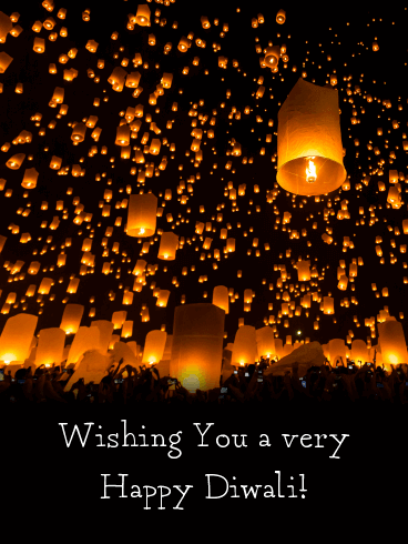 A Stunning Array of Lanterns - Happy Diwali Card