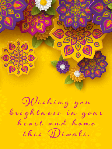 Loved and Remembered - Happy Diwali Card