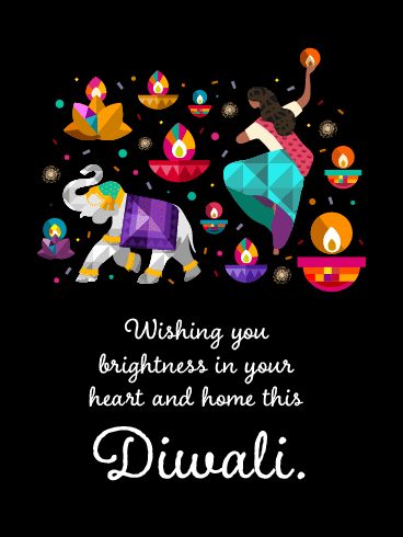 The Warmest Wishes to the Loved Ones - Happy Diwali Card