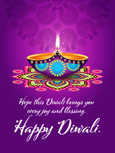 The Joyous Festival of Lights- Happy Diwali Card