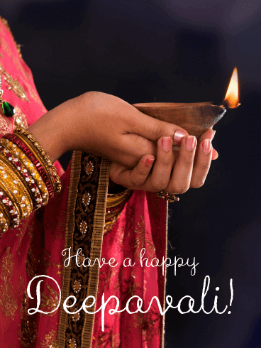 The Traditional Moment - Happy Diwali Card