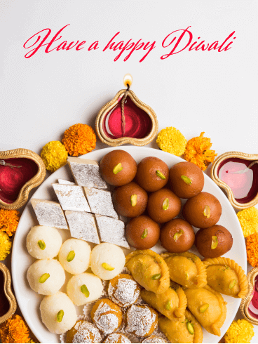 The Delicious Bites - Happy Diwali Card