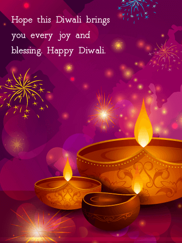 Joy and Blessings to Come - Happy Diwali Card