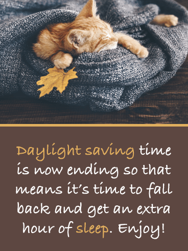 Time to Sleep In – Daylight Saving Ends Card