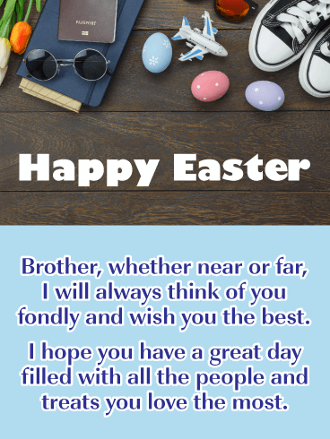 Long Distance - Happy Easter Card for Brother