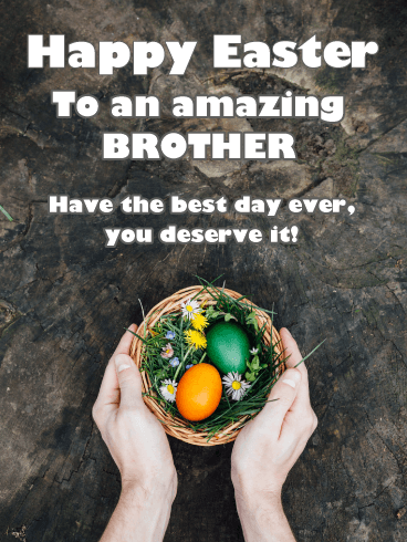 Best Easter Ever - Happy Easter Card for Brother