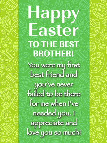 Best Brother, Best Friend - Happy Easter Card for Brother