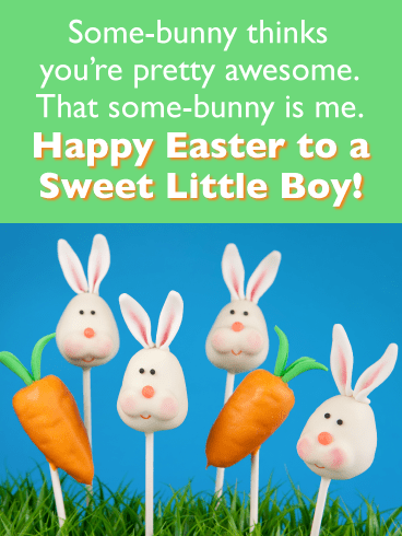 Bunny and Carrot Lollipops-Happy Easter Cards For Boys