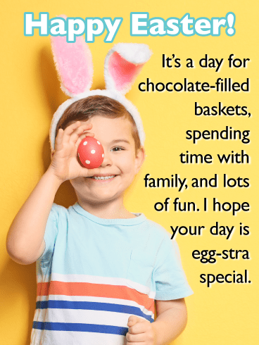 Cute Little Boy-Happy Easter Cards For Boys