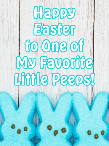 Blue Marshmallow Peel Bunnies-Happy Easter Cards For Boys