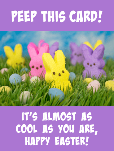Peep This- Funny Easter Card for Boys