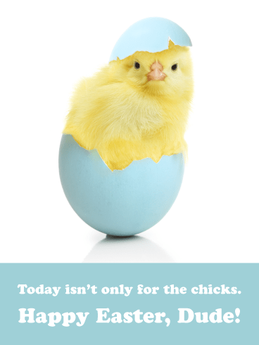 Not Just for Chicks- Funny Easter Cards for Boys
