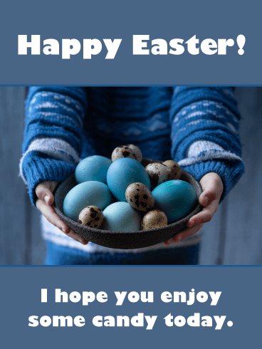 Bowl of Eggs- Happy Easter Card for Boys
