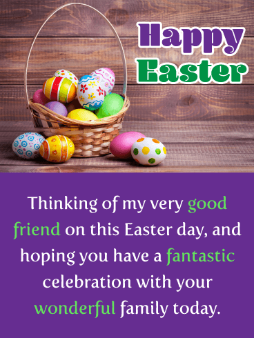 A Fantastic Celebration Happy Easter Card For Friend Birthday