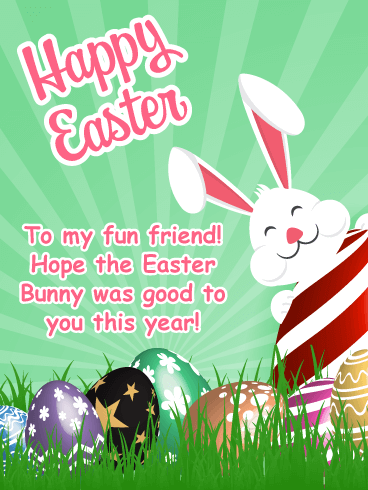 Festive & Fun - Happy Easter Card for Friend