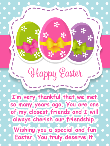 Thankful for You! - Happy Easter Card for Friend