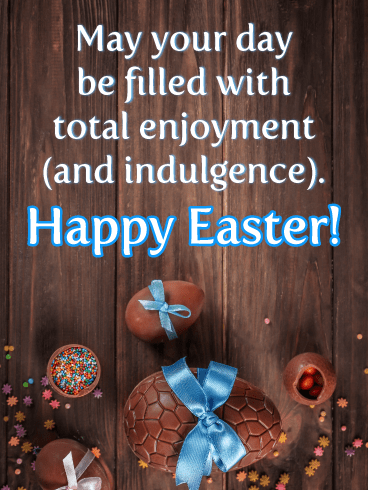 Rich Chocolate Eggs-Happy Easter Cards For Him