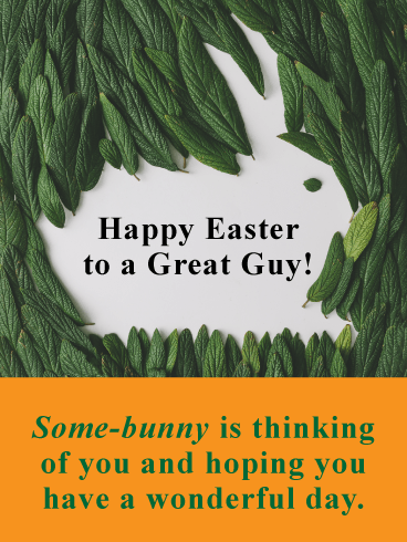 Some Bunny is Thinking of You-Happy Easter card For Him
