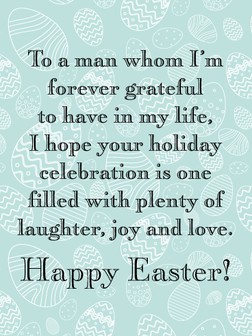 Wish Him A Wonderful Easter-Happy Easter Card For Him