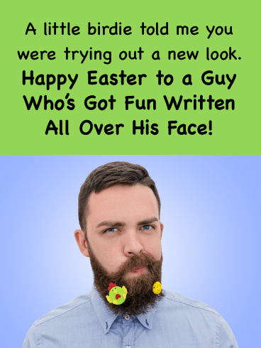 Bearded Gent-Happy Easter Card For Him
